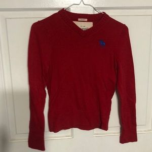 Boys red Abercrombie sweater